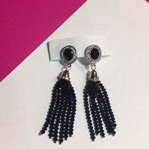 New black stud Dangle Earrings